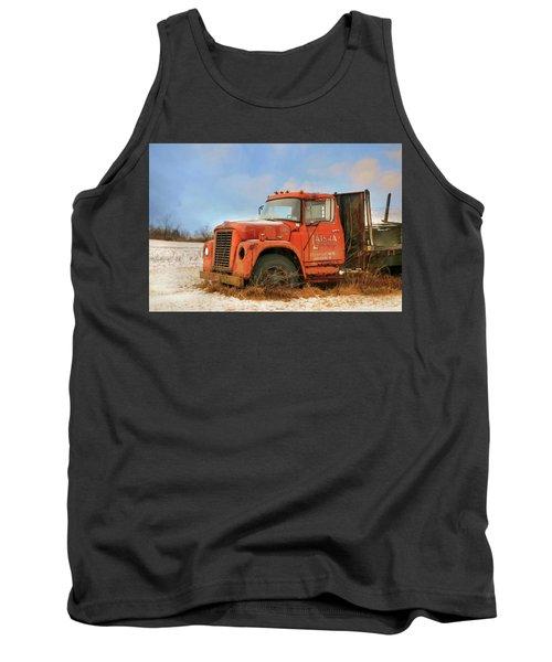 Tank Top featuring the photograph Latsha Lumber Truck by Lori Deiter