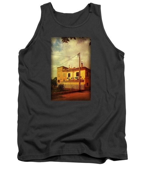 Tank Top featuring the photograph Laundry Day by Anne Kotan