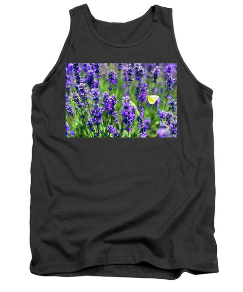 Tank Top featuring the photograph Lavender And The Heart by Ryan Manuel