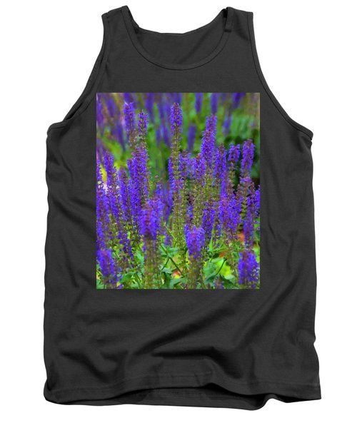 Tank Top featuring the digital art Lavender Patch by Chris Flees