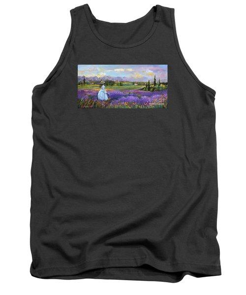 Lavender Splendor  Tank Top by Jennifer Beaudet