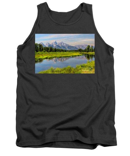 Lavender Teton Peaks  Tank Top