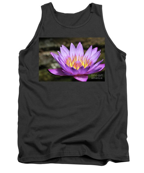 Lavender Water Lily #3 Tank Top