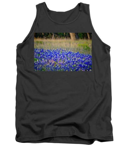 Tank Top featuring the photograph Layers Of Blue by Linda Unger