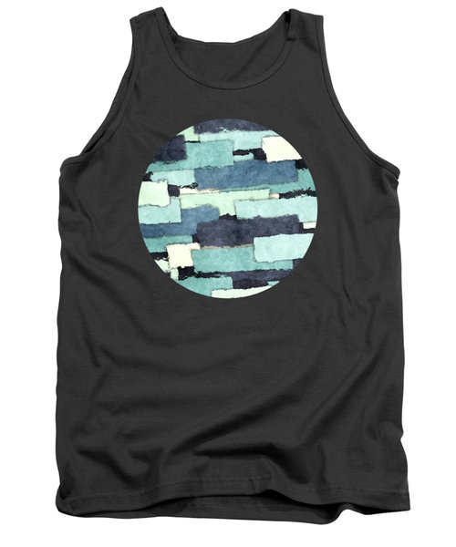 Layers Of Colors Pattern Tank Top by Phil Perkins