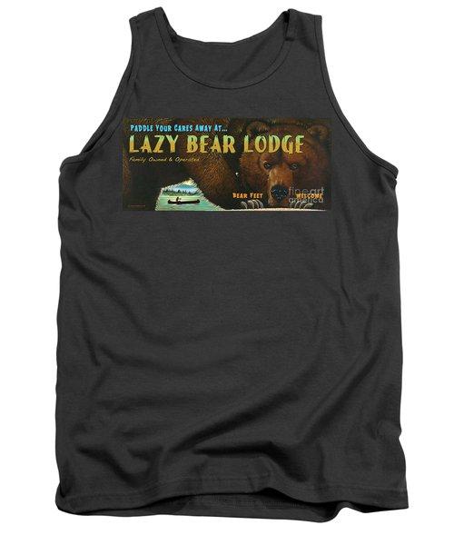 Lazy Bear Lodge Sign Tank Top