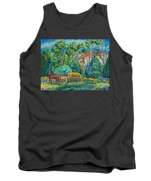 Lazy Wyoming Afternoon Tank Top by Dawn Senior-Trask
