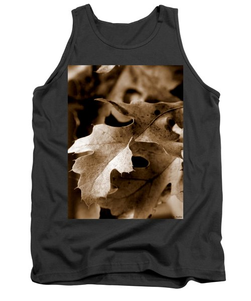 Leaf Study In Sepia IIi Tank Top by Lauren Radke
