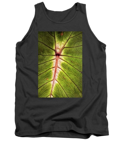 Leaf With Veins Tank Top