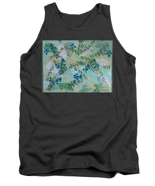 Leafy Floor Cloth Tank Top by Judith Espinoza