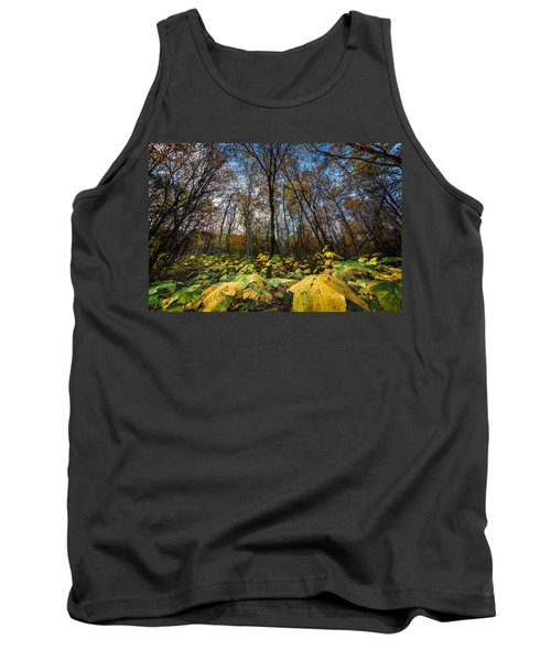 Leafy Yellow Forest Carpet Tank Top