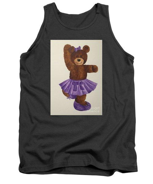 Tank Top featuring the painting Leah's Ballerina Bear 2 by Tamir Barkan