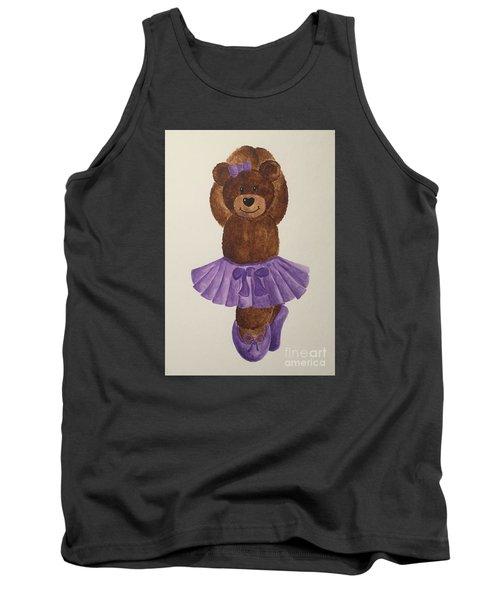 Tank Top featuring the painting Leah's Ballerina Bear 3 by Tamir Barkan