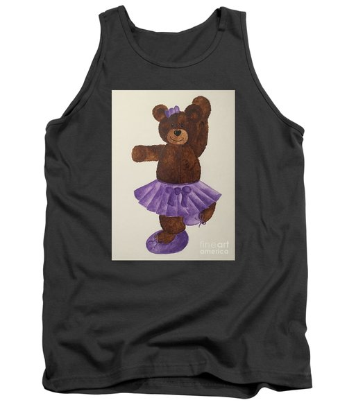 Tank Top featuring the painting Leah's Ballerina Bear 4 by Tamir Barkan