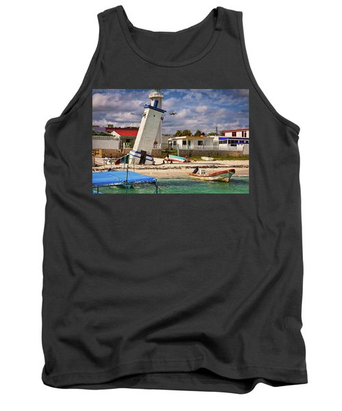 Leaning Lighthouse Tank Top