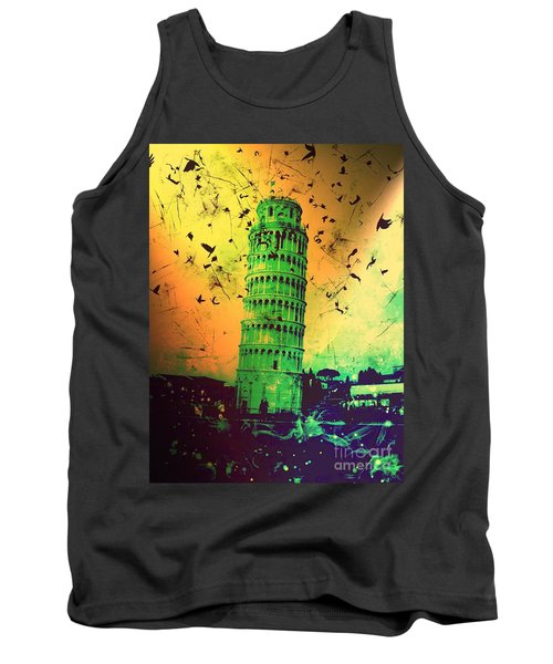 Leaning Tower Of Pisa 32 Tank Top