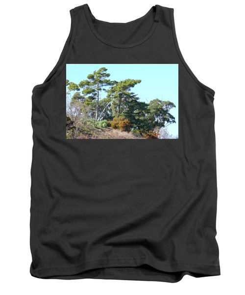 Leaning Trees On Hillside Tank Top