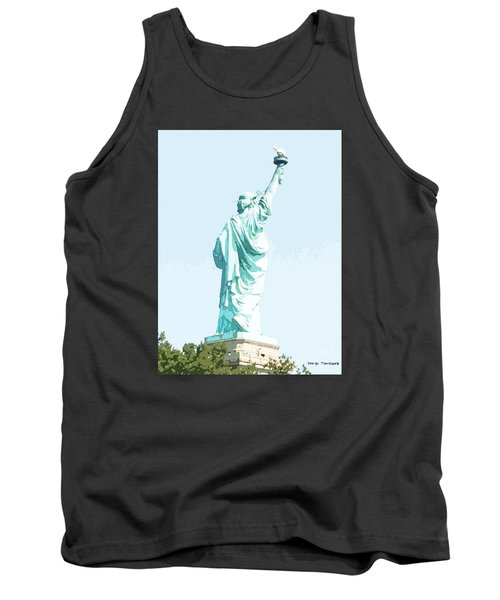 Tank Top featuring the painting Leap Of Liberty by Denise Tomasura