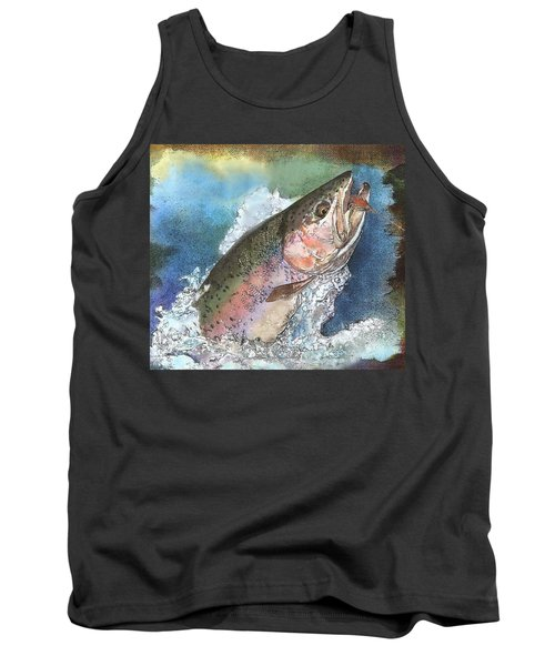 Leaping Rainbow Trout Tank Top