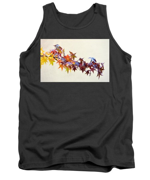 Leaves Of Many Colors Tank Top by AJ Schibig