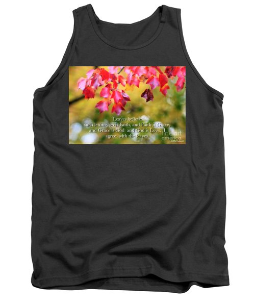 Leaves Believe Tank Top by MaryLee Parker