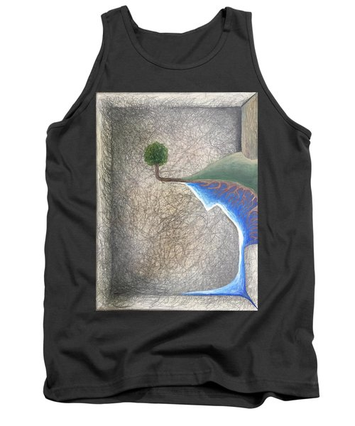 Tank Top featuring the mixed media Left Universe by Steve  Hester