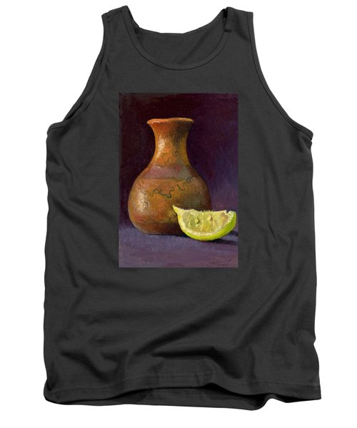 Lemon And Horsehair Vase A First Meeting Tank Top by Catherine Twomey