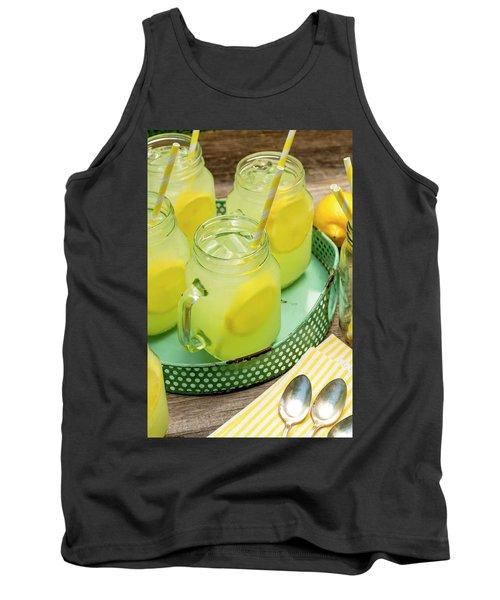 Lemonade In Blue Tray Tank Top