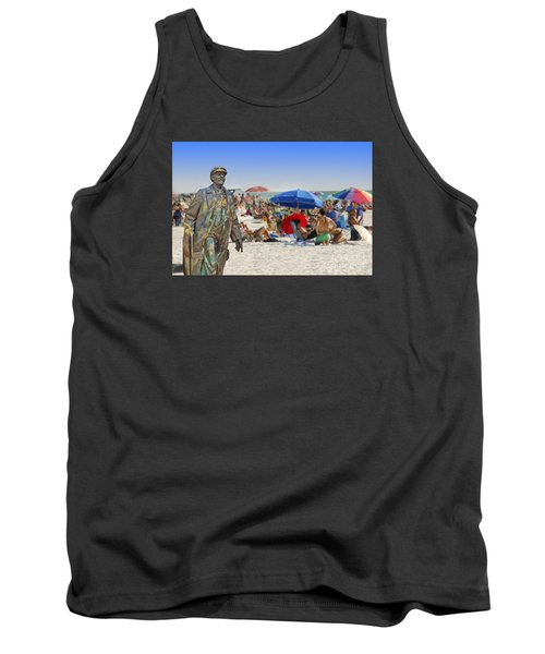 Lenin Goes To The Beach  Tank Top