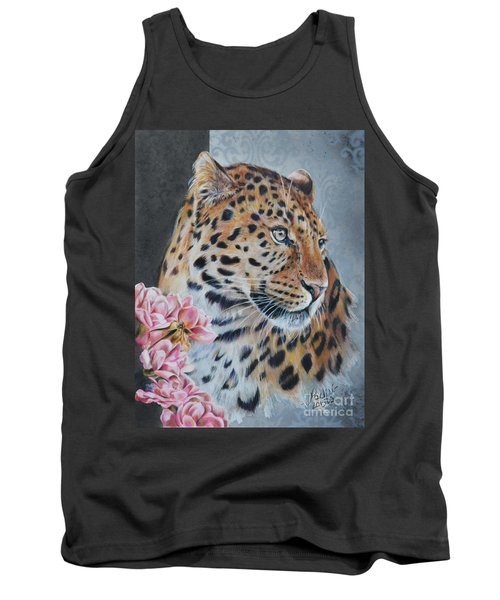 Leopard And Roses Tank Top