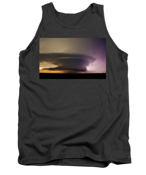 Leoti, Ks Supercell Tank Top by Ed Sweeney