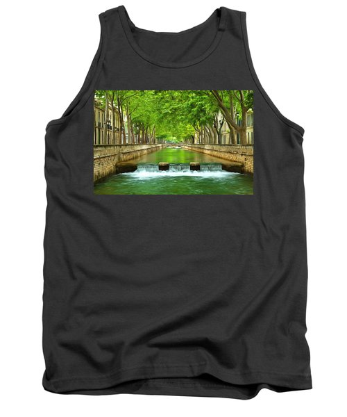 Les Quais De La Fontaine Nimes Tank Top by Scott Carruthers
