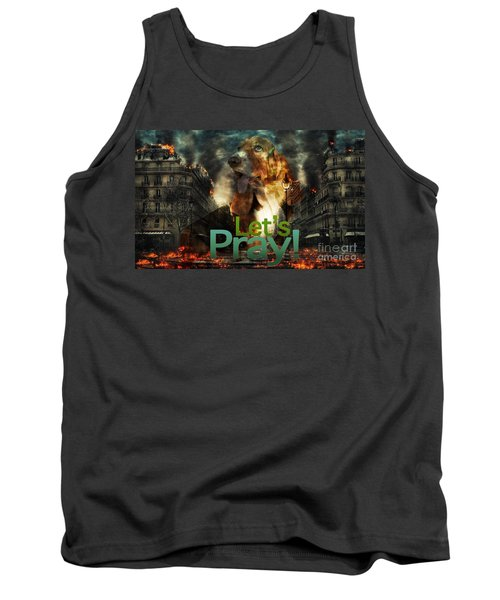 Tank Top featuring the digital art Let Us Pray by Kathy Tarochione