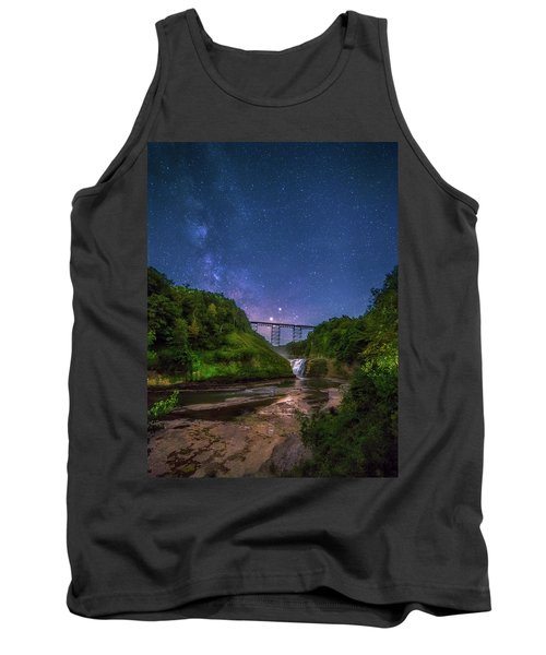 Letchworth At Night Tank Top by Mark Papke