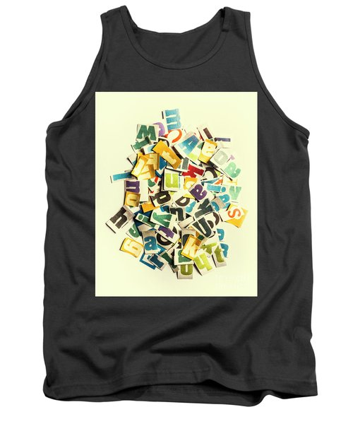Letters In Jumble Tank Top