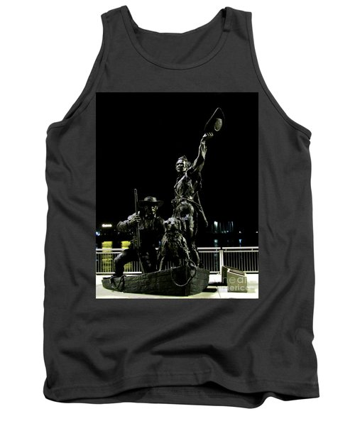 Lewis And Clark Arrive At Laclede's Landing Tank Top