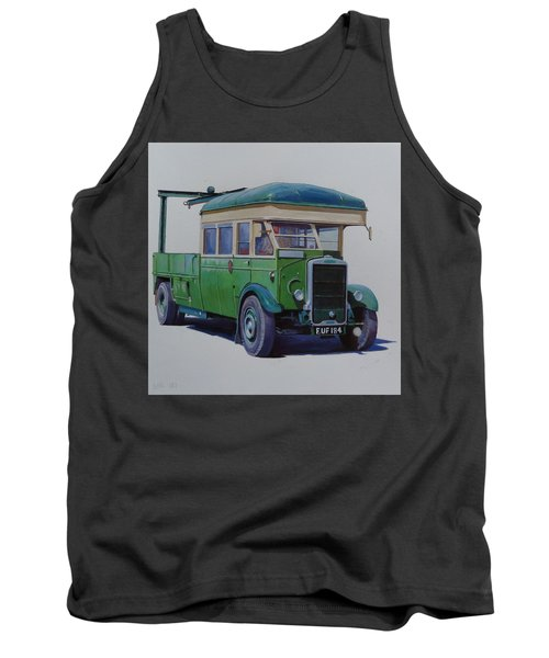Tank Top featuring the painting Leyland Southdown Wrecker. by Mike Jeffries