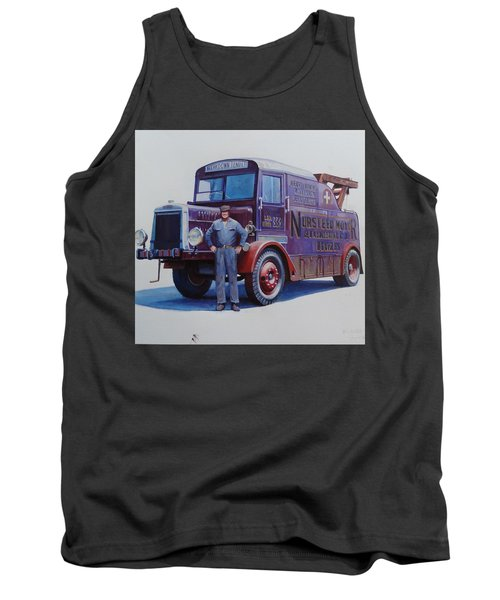 Tank Top featuring the painting Leyland Wrecker 1930. by Mike  Jeffries