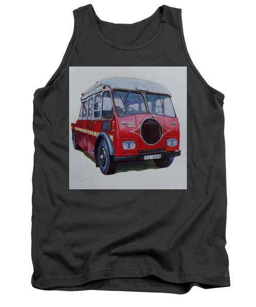 Tank Top featuring the painting Leyland Wrecker Cie by Mike Jeffries