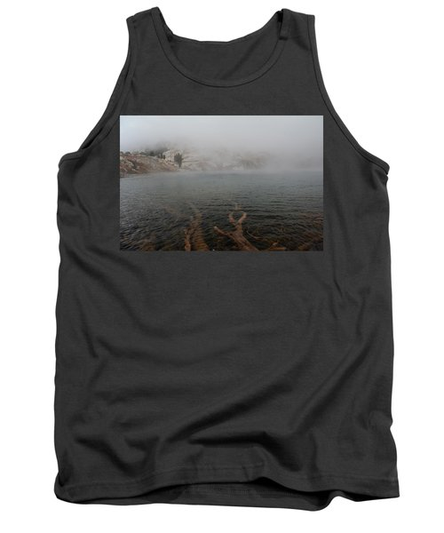 Tank Top featuring the photograph Liberty Lake In Fog by Jenessa Rahn