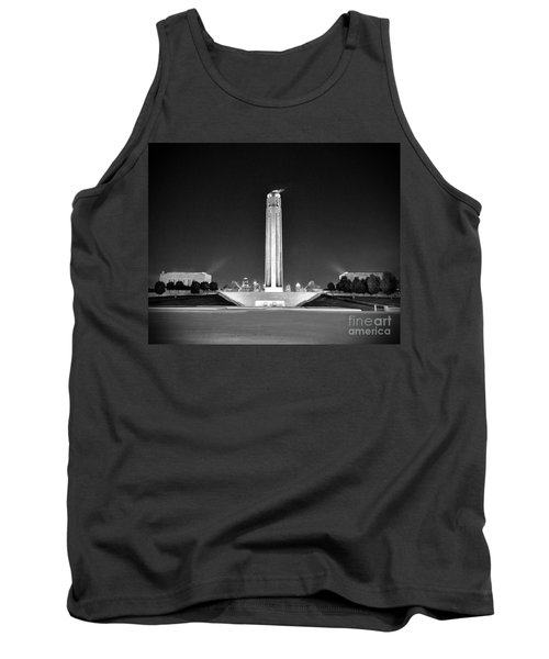 Liberty Memorial In Kansas City Bw Tank Top