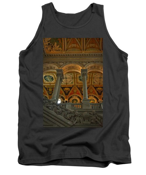 Library Of Congress Staircase Tank Top