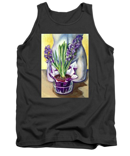 Tank Top featuring the drawing Life Spring by Laura Aceto