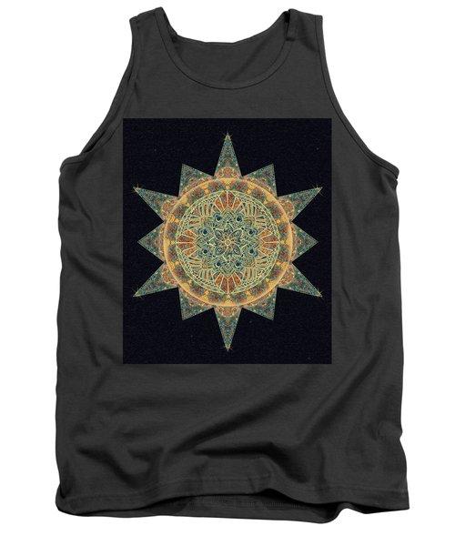 Tank Top featuring the drawing Life Star Mandala by Deborah Smith