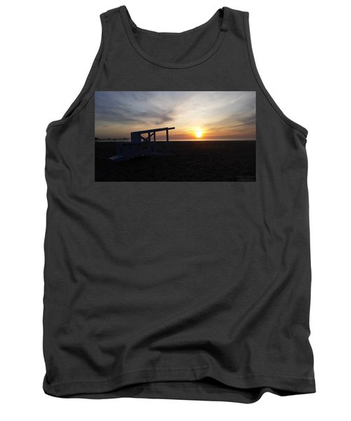 Lifeguard Stand And Sunrise Tank Top