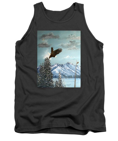 Tank Top featuring the painting Lift Off by Al  Johannessen