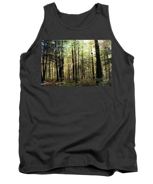 Tank Top featuring the photograph Light Among The Trees by Felipe Adan Lerma