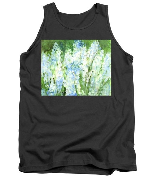 Tank Top featuring the painting Light Blue Grape Hyacinth. by Laurie Rohner