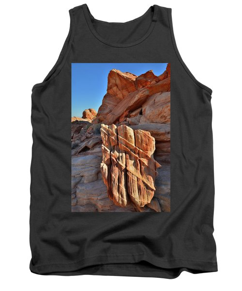 Light Creeps In At Valley Of Fire State Park Tank Top