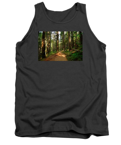 Tank Top featuring the photograph Light In The Forest by Lynn Hopwood